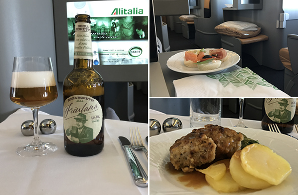 Alitalia eten business class