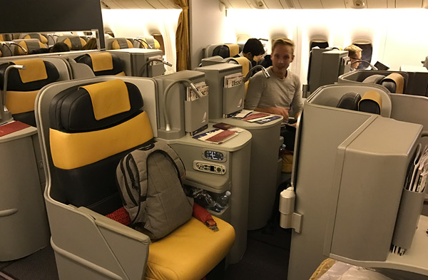 Alitalia Business Class stoel - Flat Bed Seat