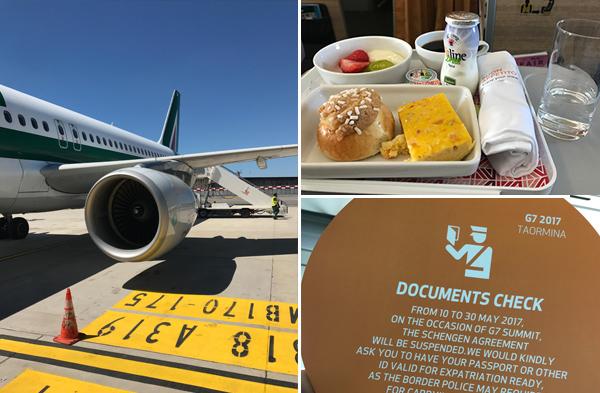 DUS-FCO eten bij Alitalia