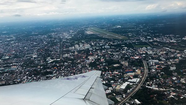 Thai Airways view Chiang Mai CNX